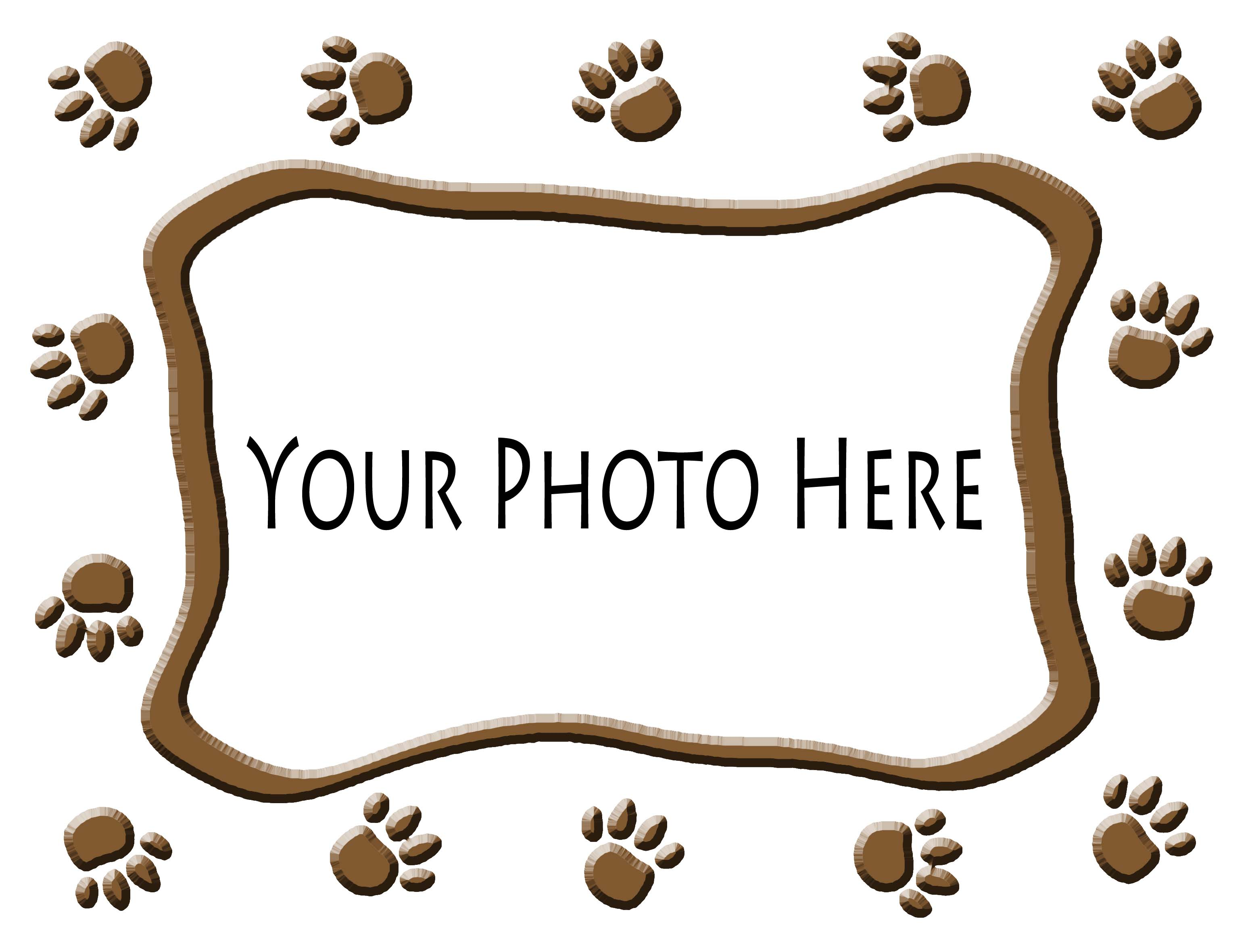 add pet photo inside paw prints frame 8 - Dog Frame