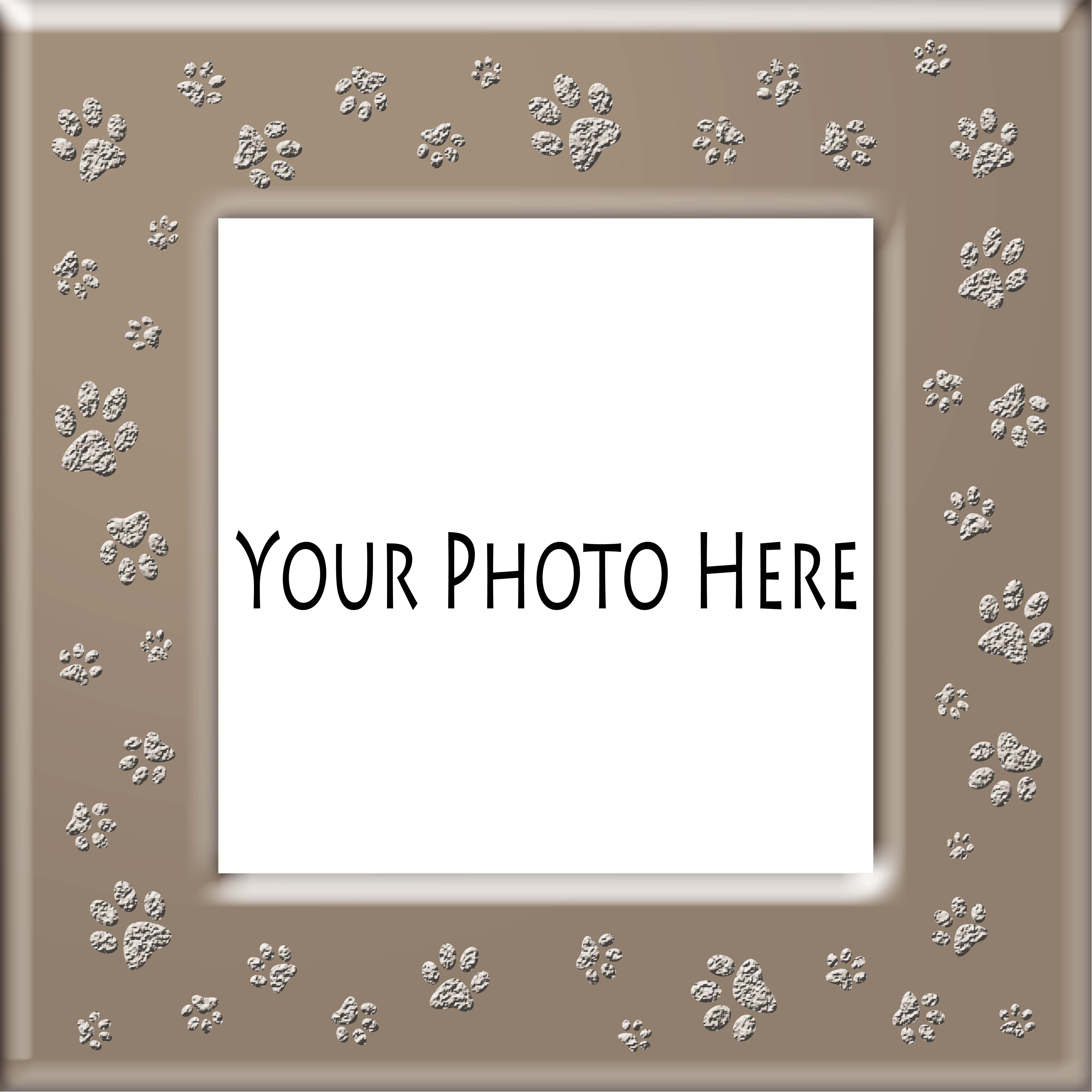 add-pet-photo-inside-tan-paws- frame#1